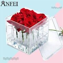 Anfei Jewelry дисплей Роза коробка для хранения цветок струй воды розы стеллаж подарочной упаковки цветы ювелирные изделия Интимные аксессуары A217-1