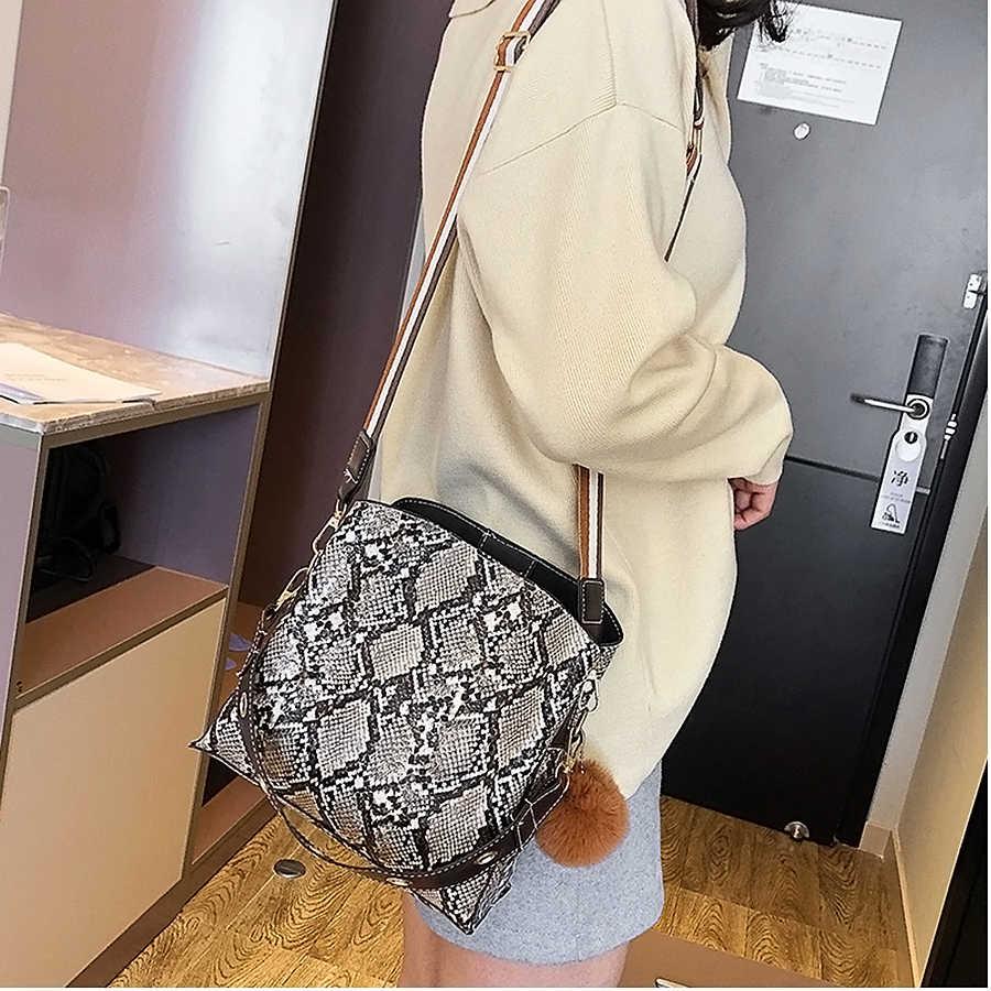 LANLOU bolso de mujer nuevo bolso de hombro bolsos de lujo Bolsos De Mujer diseñador de alta calidad de cuero de serpiente de moda bolso de mensajero