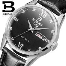 Switzerland men's watch luxury brand Wristwatches BINGER 18K gold Automatic self-wind full stainless steel waterproof  B1128-15