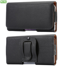 Universal Leather Flip Cover Phone Pouch for Samsung For huawei xiaomi HTC MOTO IPhone OPPO Waist Bag Case