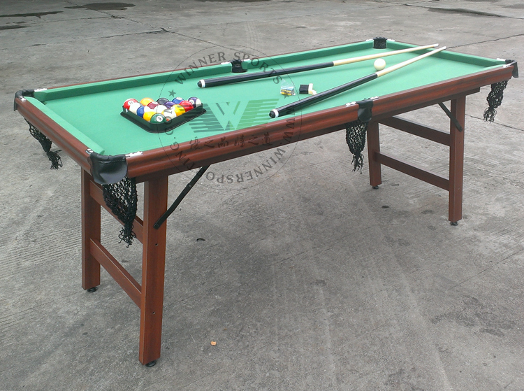 small pool table size 72 inch folding american pool table biilard table family 5539