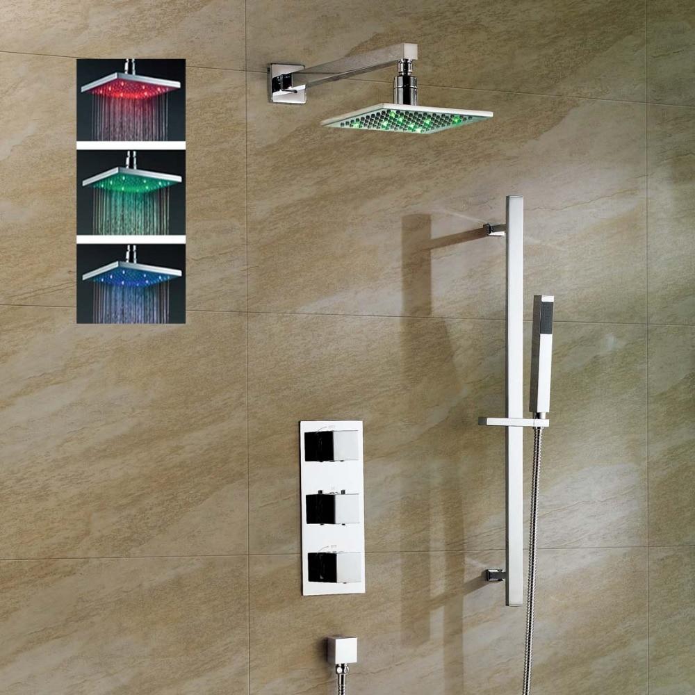 Ensemble de douche thermostatique doccia 8 avec barre coulissanteEnsemble de douche thermostatique doccia 8 avec barre coulissante