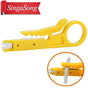 Mini Portable Wire Stripper Knife Crimper Pliers Crimping Tool Cable Stripping Wire Cutter Multi Tools Cut Line Pocket Multitool outdoor multitool pliers repair pocket knife fold screwdriver set hand multi tools mini folding pocket portable fishing survival