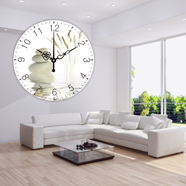large wall clock modern design silent living room 3d wall decor ...