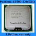 Пожизненная гарантия Pentium E6600 3.06 ГГц 2 м 1066 двухъядерный настольных процессоров процессор 6600 сокет LGA 775 контакт. компьютер бесплатная доставка