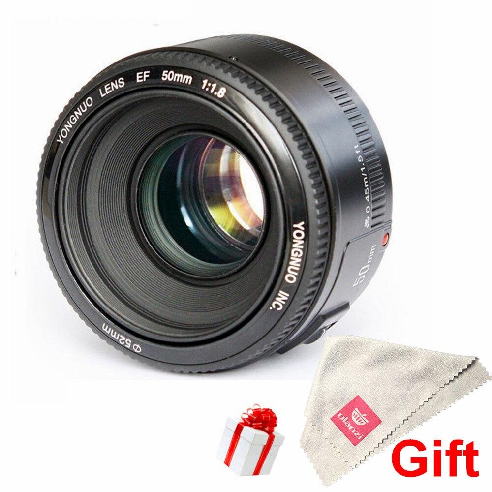 Prix pour Ulanzi YONGNUO YN50mm F1.8 Objectif Standard Premier Grande Ouverture Mise Au Point Automatique objectif pour Canon EF Mont Rebel 650D 700D 7D Appareil Photo REFLEX NUMÉRIQUE