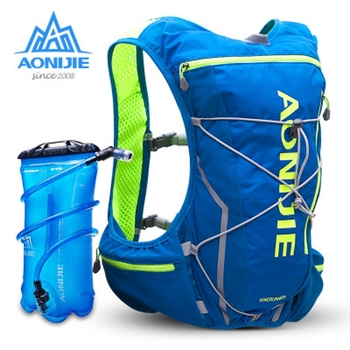 AONIJIE Men Women 10 L Marathon Running Cycling Backpack With 2L Water Bladder Bag Outdoor Camping Hiking