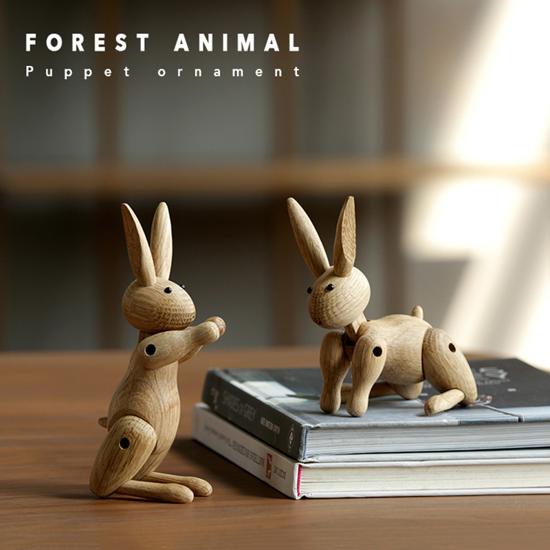 The Danish rabbit puppet puppet Nordic wood Home Furnishing ornaments wholesale custom Soft decorations sample room wooden decor-in Figurines & Miniatures from Home & Garden on Aliexpress.com | Alibaba Group