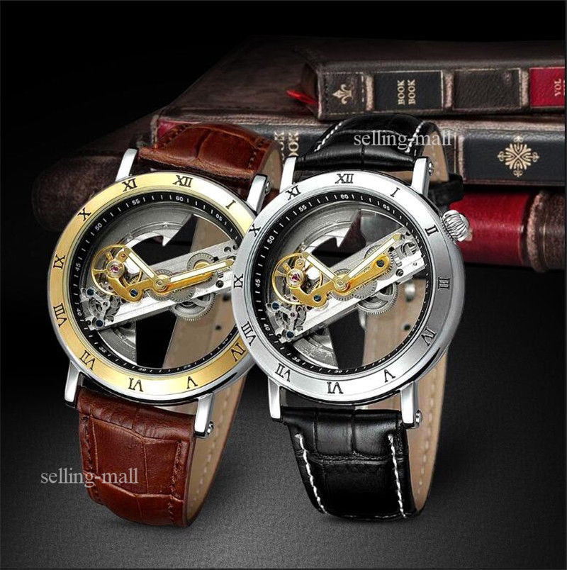 Men's Grant Automatic Skeleton Dial Stainless Steel Leather Watch lroom стол grant