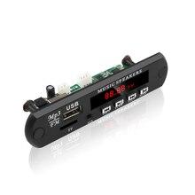 Kebidu DC 5V 12V mikro USB FM AUX 3.5MM TF radyo MP3 dekoder ses kartı araba için uzaktan kumanda müzik hoparlörü