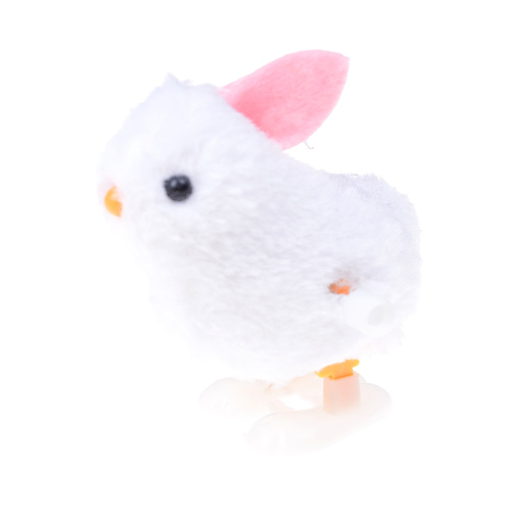 1PCS Soft Plush Rabbit Jumping Bunny Doll Toys Wind Up Easter Hopping Jumping Chick Infant Child Plush Doll Toys Bunny Gift