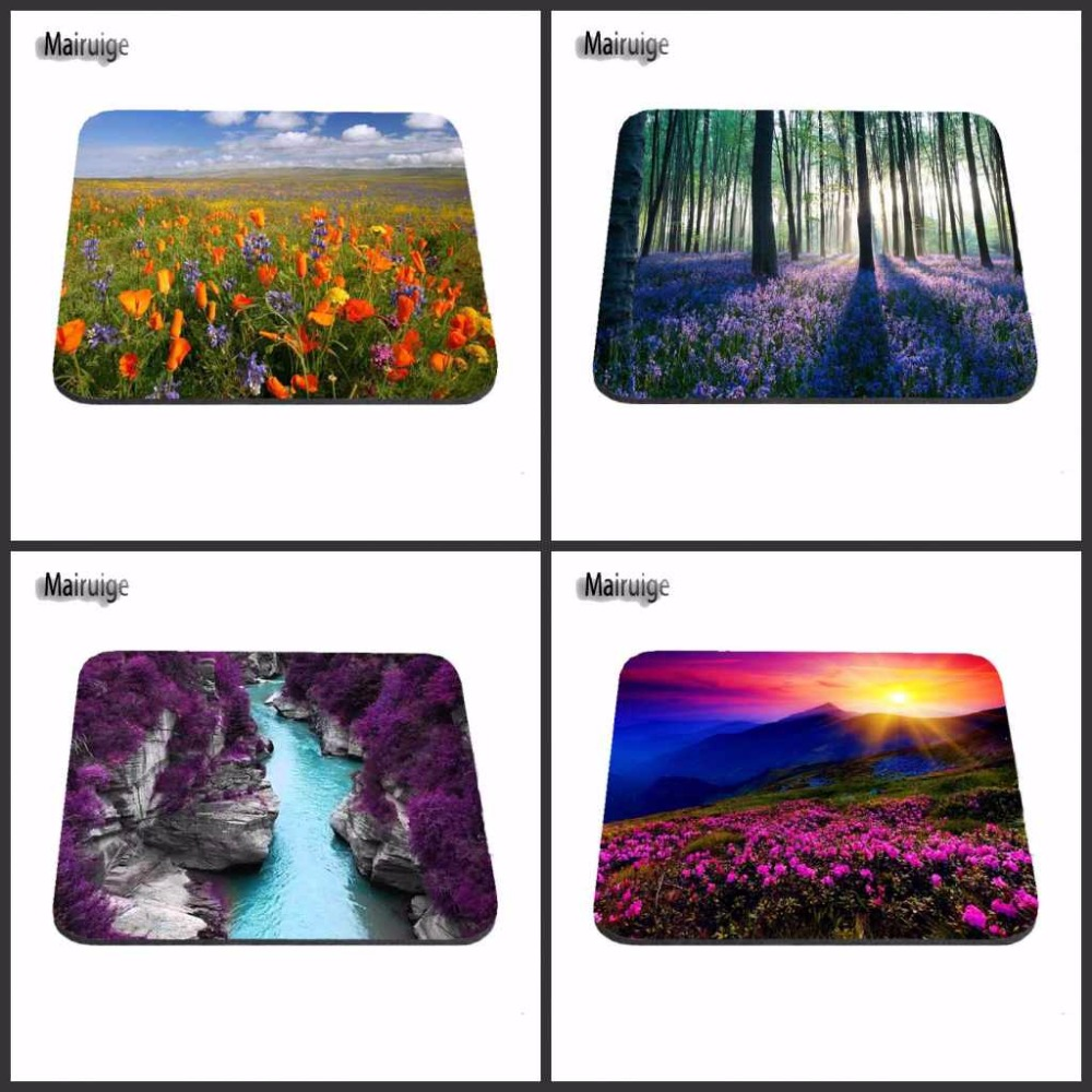 Tree And Purple Flower Buds, Painting,Texture Best Game Custom Mousepads Rubber Pad Custome Make Your Own Mat Gamer Laptop