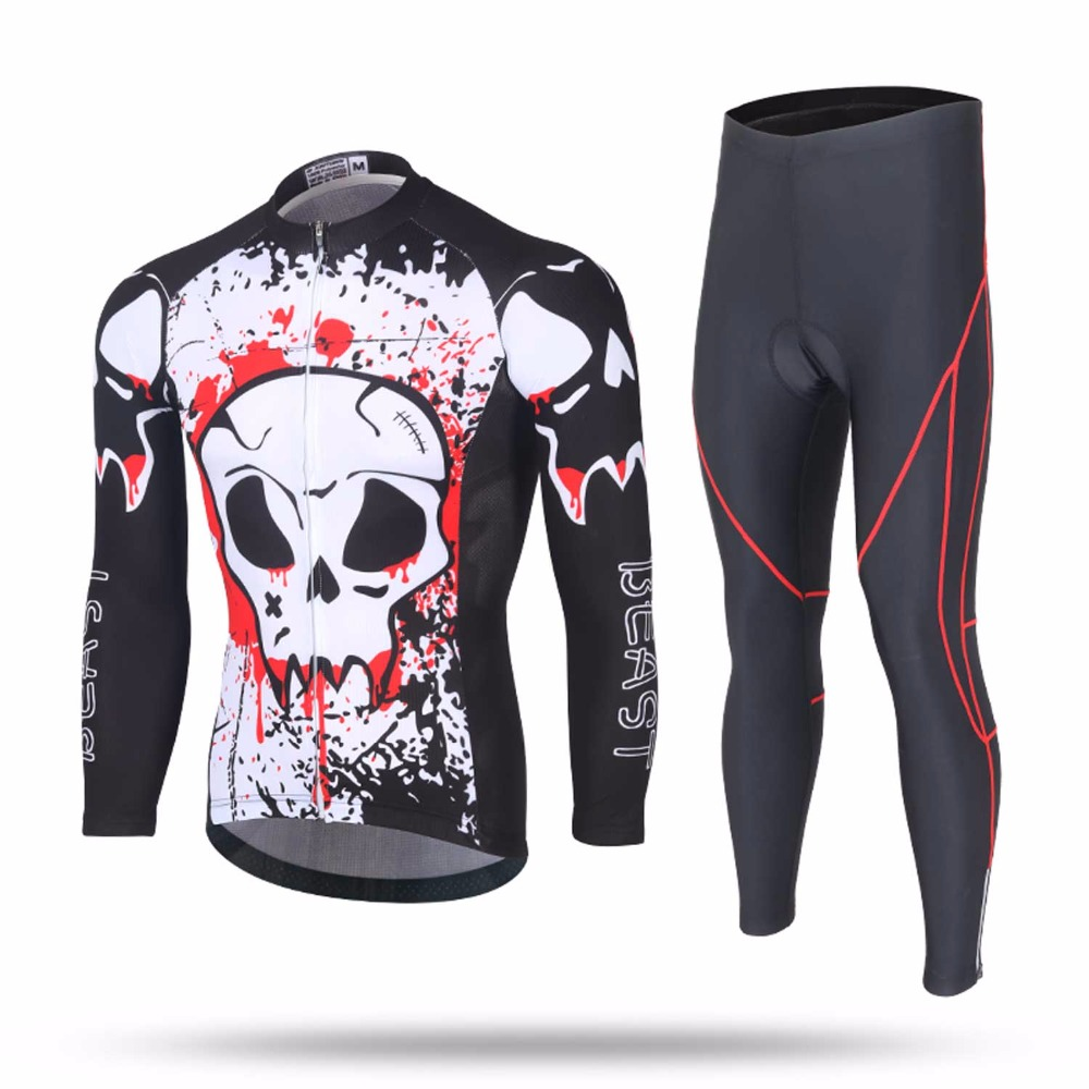 Men Cycling Sets Riding Suit Cycling Jersey Pants Spring Autumn Bicycle Clothing Mountain Car Equipment women s cycling shorts cycling mountain bike cycling equipment female spring autumn breathable wicking silicone skirt