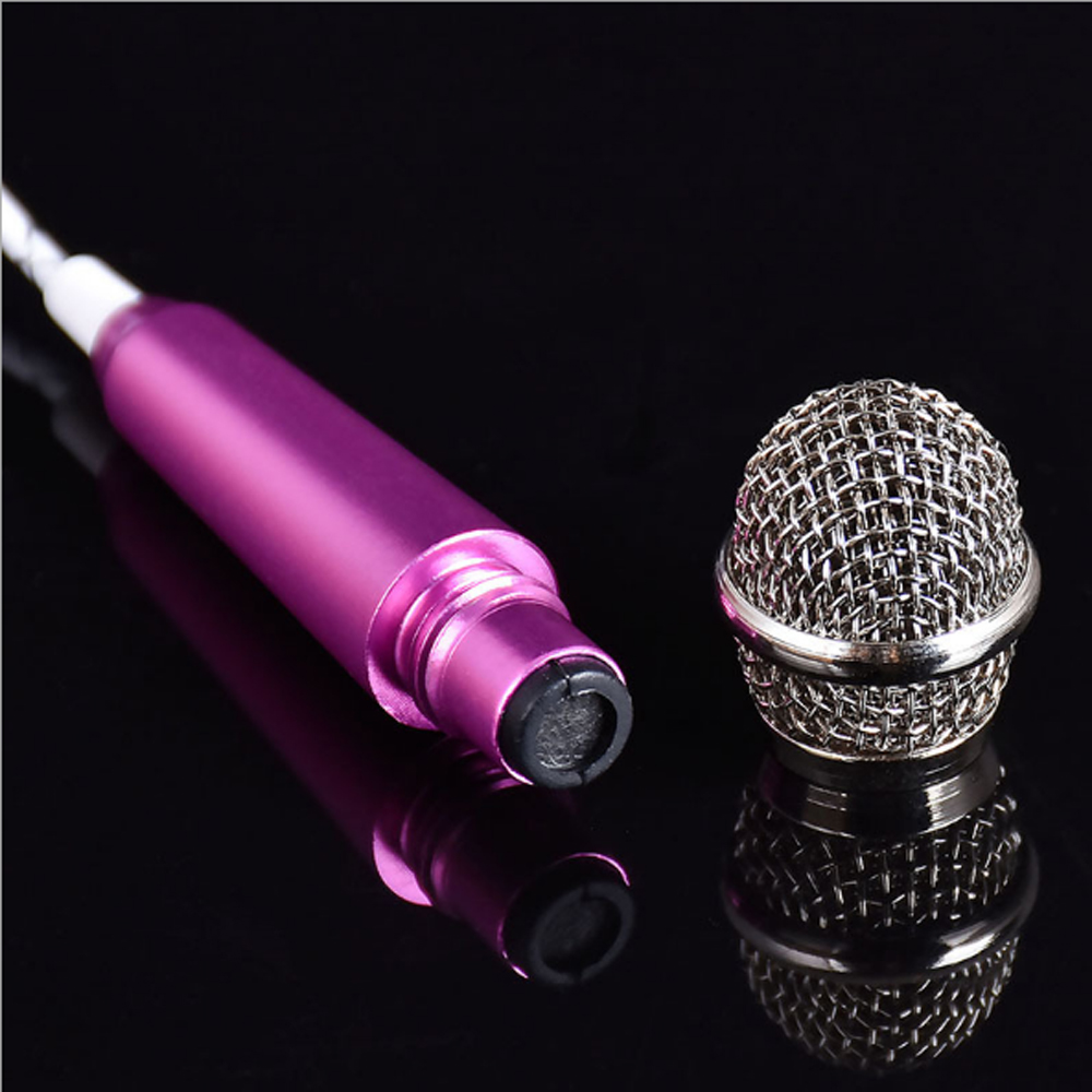 10 pcs a lot Mobile K Song Microphone National K Singing Bar Microphone Song Artifact Cell Phone Microphone Mini Microphone in Microphones from Consumer Electronics