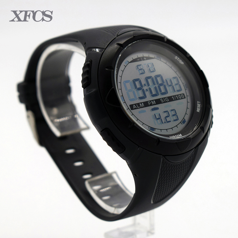 XFCS waterproof wrist digital automatic watches for children digitais watch running kids digitales clock silicone led