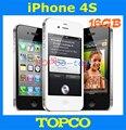 Desbloqueado Iphone Original de fábrica 4S 16 GB teléfono móvil GSM WIFI GPS 8MP blanco y negro en caja sellada dropshipping