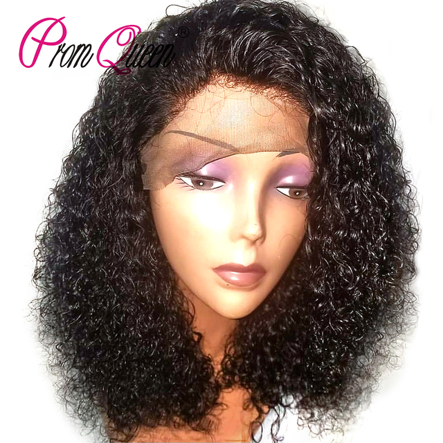 Malaysian Kinky Curly Human Hair Short Curly Lace Front Human Hair Wigs For Black Women Wig Full and Thick Free Shipping -