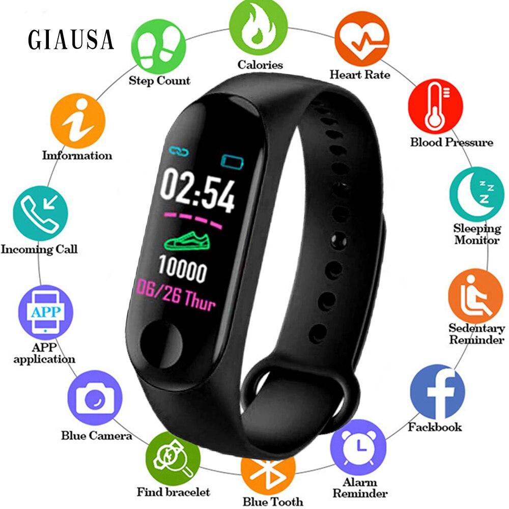 2019 mode M3 Plus Bracelet intelligent Bracelet moniteur de fréquence cardiaque pression artérielle Fitness Tracker vie étanche bracelets intelligents