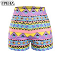 New Chinese Style Summer Women Shorts 3D Personality Colorful National wind Print Underware High Waist Skinny Zipper Shorts