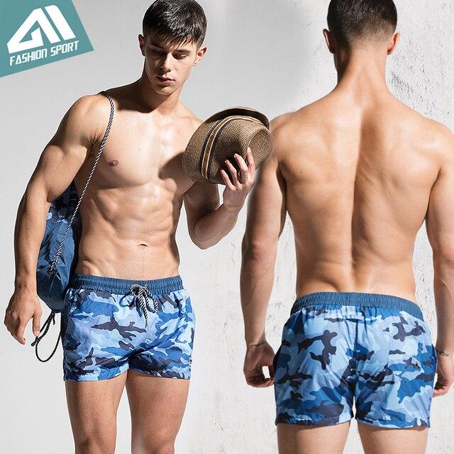 Desmiit Fast Dry Men's Board Shorts Summer Camouflage Beach Surfing Man Swimming Shorts Athletic Sport Running Gym Shorts AM2030 4
