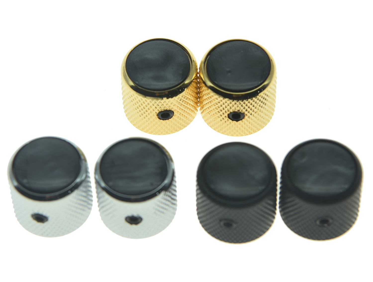 Dopro Quality Set of 2 Black Pearl Top Cap Guitar Dome Knobs with Set Screw for Tele Guitars Black Pearl Bass Knobs corporate governance and quality of earnings