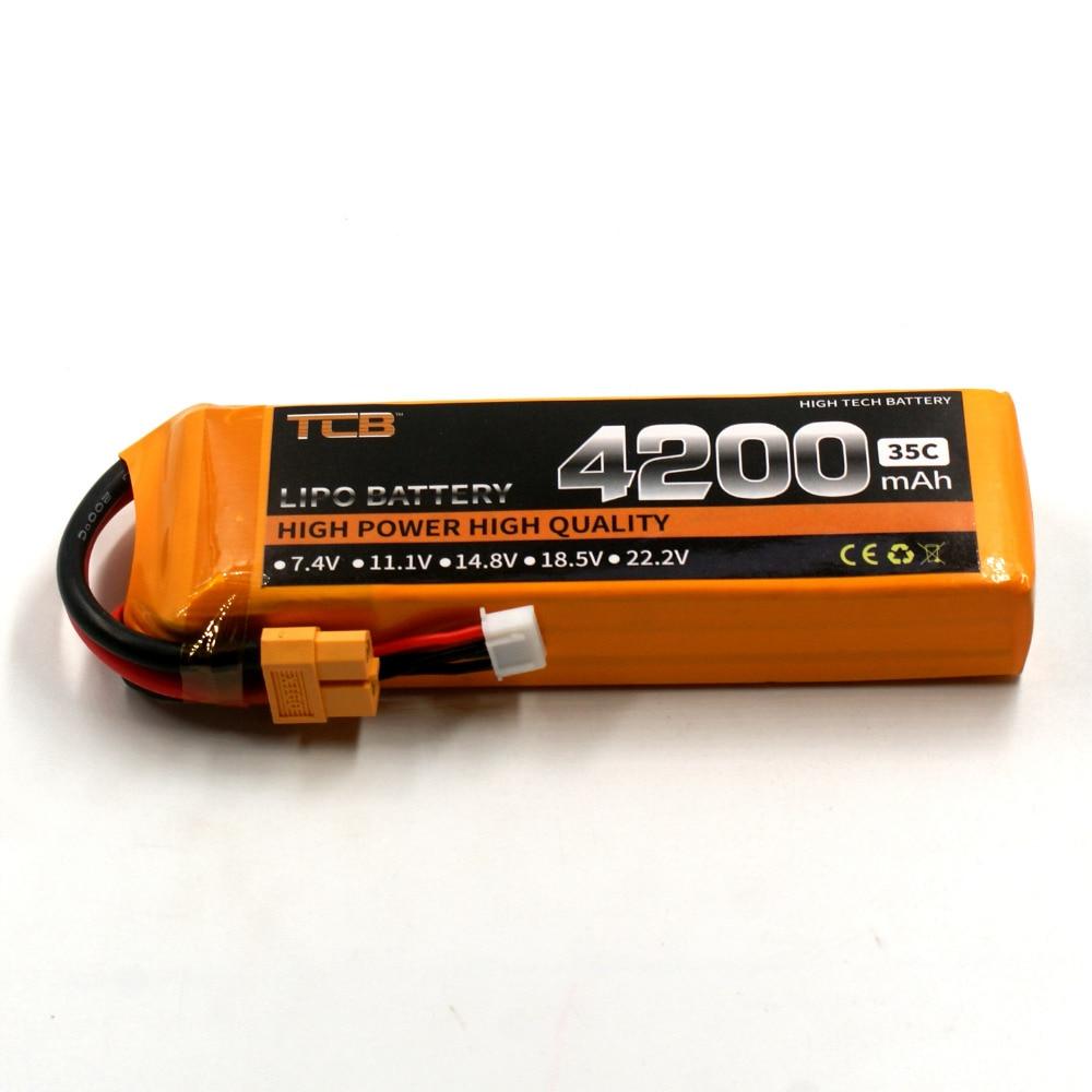 TCB RC lipo battery 11.1v 4200mAh 35C 3s high-rate cell for rc model airplane aircrft car boat li-poly batteria akku