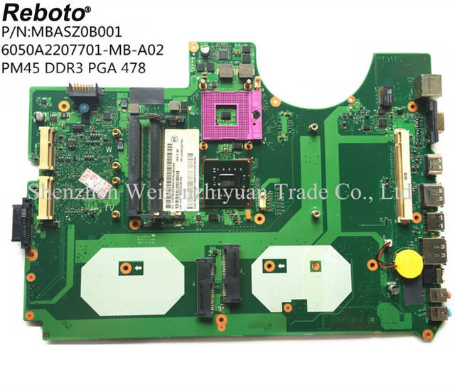 Reboto For ACER 8930 8930G Laptop motherboard mainboard MBASZ0B001  6050A2207701 MB 100% Tested Fast Ship-in Motherboards from Computer &  Office on