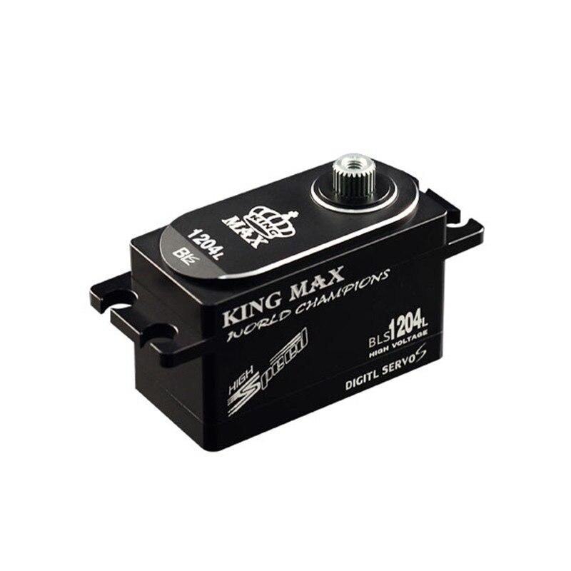 KINGMAX BLS1204L 50g 12kg. cm numérique métal engrenage profil bas servo étanche pleine CNC boîtier en aluminium pour RC heli 1/8 1/10 voitures
