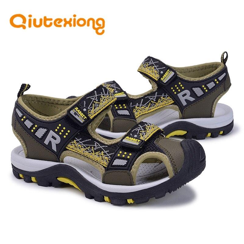 e44c1919874e7 QIUTEXIONG été enfants sandales garçons chaussures à bout fermé plage eau  sandale respirant école Sport sandale enfant en bas âge bébé chaussure  infanil ...
