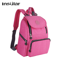 INSULAR Fashion Mummy Maternity Diaper Backpack Brand Baby Nappy Bag Travel Backpack Nursing Bag For Baby