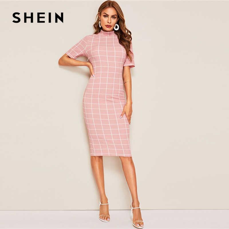 Шеин розовое романтическое вышитое Сетчатое накладное ТРАПЕЦИЕВИДНОЕ Вечерние Платье женское летнее платье с коротким рукавом с высокой талией с круглым вырезом кружевное платье