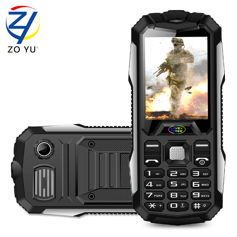ZOYU D9800 cellphones business phone the outdoor phone for senior phone 3800 power bank 2G dual