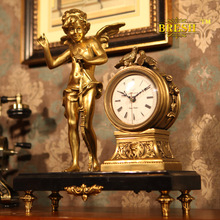 BRESH high-end luxury full copper copper watch clock clock French fireplace decoration and Cupid