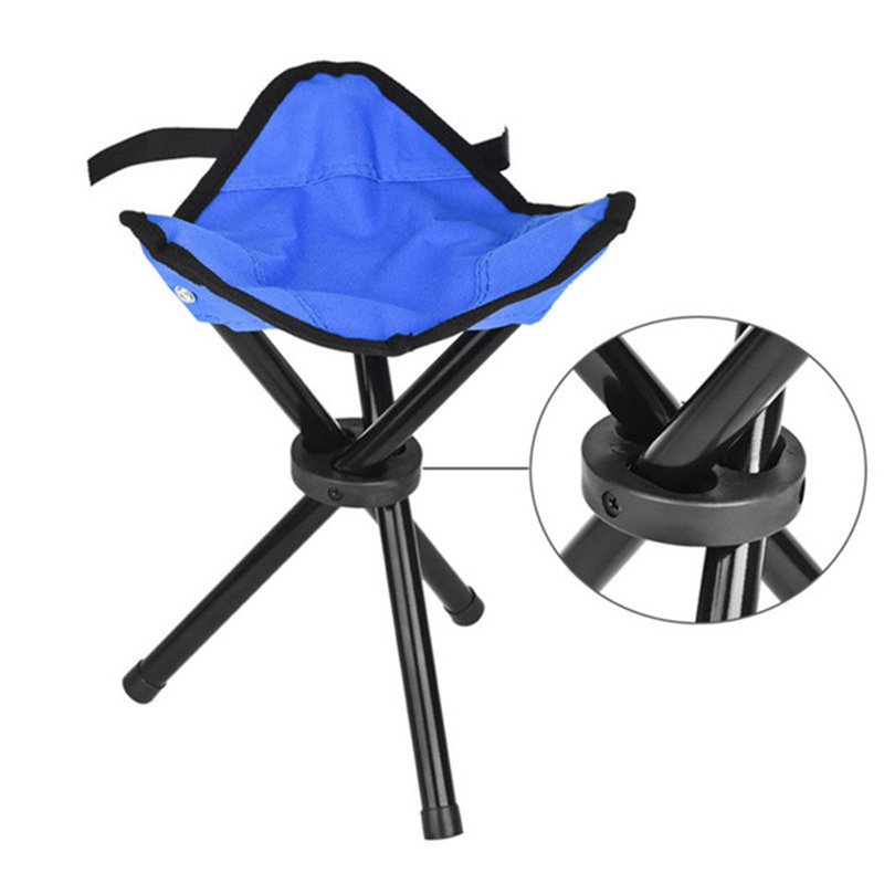 Folding Stool Portable Telescopic Collapsible For Hiking Camping Fishing Chair