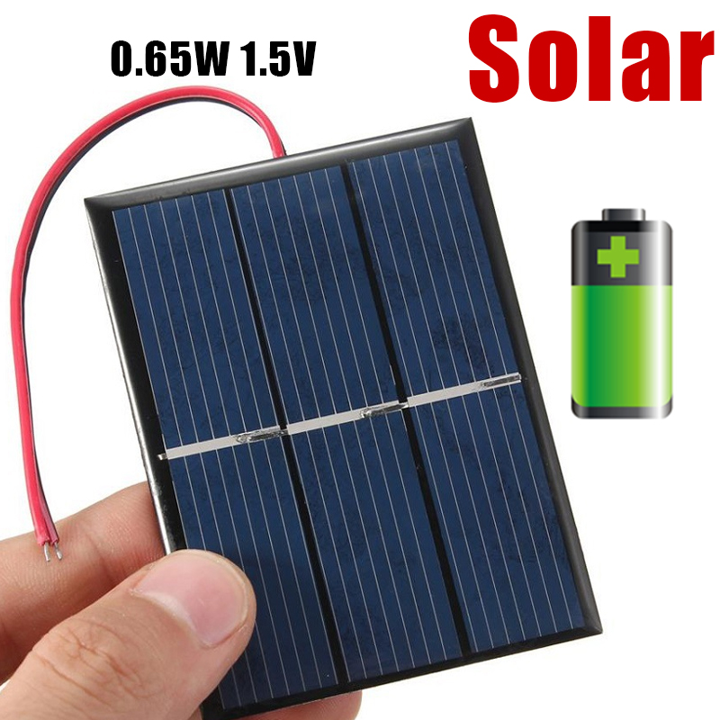 Portable 1.5V 0.2w/0.65w/0.7w Solar Panel Solar Power Panel CellPhone Charger Panel Home Outdoors DIY Module Solar Cells