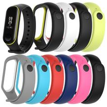 цена 2 Colors Strap For Mi Band 3 Strap Smart Watch Silicone bracelet for Xiaomi Mi Band 3 4 Accessories Wristband miband3 Wriststrap онлайн в 2017 году