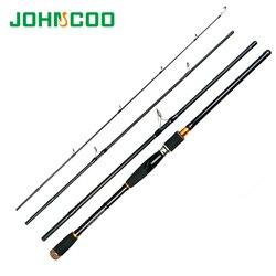 Удочка для приманки 2,1 2,4 2,7 m, 4 секции, карбоновая спиннинговая удочка, удочка для путешествий, литая удочка, удочка для морской рыбалки