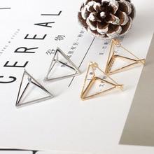 купить Brincos 2018 Perlas Pendientes Earing Bijoux Triangle Clip Ear Cuff Earrings For Women Wedding Jewelry Geometric Earings дешево