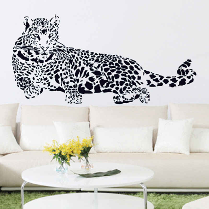 Aliexpress.com : Buy Black PVC Wall Stickers Cheetah