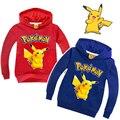 Pokemon Kids Boys Girls Clothes  Kid Cotton Hoodies Sweatshirts T-Shirts Pikachu Tops Clothing