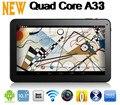 10 pulgadas Android 4.4 de la Tableta de AllWinner A33 Quad core Tablet 1G RAM 8 GB/16 GB Cámaras Duales 1.3 HZ