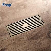 Frap High Quality Floor Drain 20*8.2 cm Euro Antique Brass Floor Drains Cover Shower Waste Drainer Bath Accessories Y38072