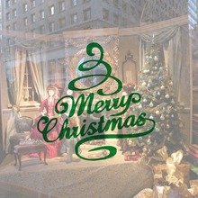 DCTOP New Design Christmas Tree Vinyl Wall Sticker Merry Christmas Art Murals For Home Wall Coffee Shop Xmas Decorative Decals