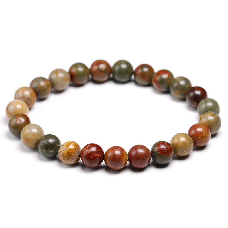 "Handmade Natural Gemstone Round Beads Citrine Stretch Bracelet 7/"" 8.5/"""