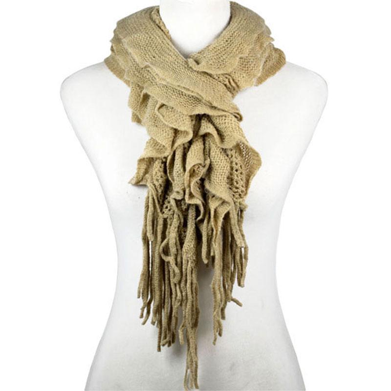 AOLOSHOW Warme Winter Woolen Garn Verdicken Stricken Schals ...