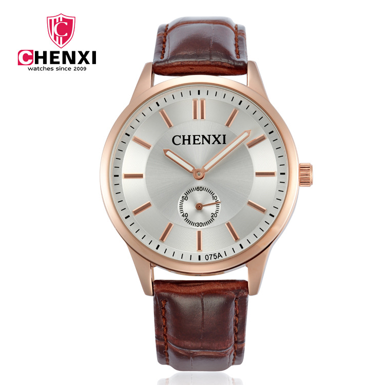 Fashion Chenxi Brand Watch Man Luxury Watches Leather Strap Bracelet Gold Clocks Lovers Gift Couple Men Woman Lover Wristwatches
