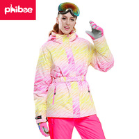 PHIBEE Adult Windproof And Waterproof Skiing Suits Outdoors And Mountaineering Clothes Skiing Clothes Winter Ski Jacket Women