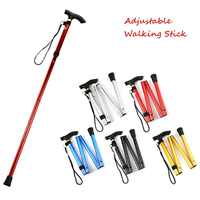 4-section Folding Ultralight Adjustable Walking Sticks Telescopic Trekking Hiking Poles Walking Canes with Rubber Tips