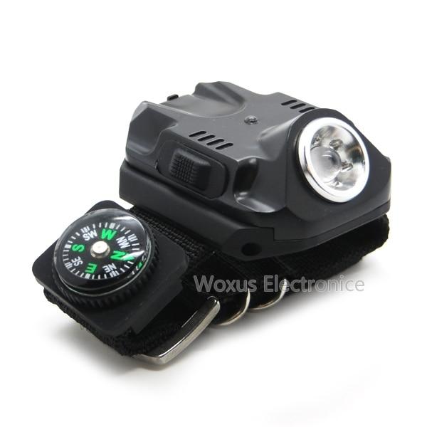 50pcs Rechargeable Outdoor Tactical LED Wristlight Flashlight Waterproof  Wrist Lighting Lamp LED Strobe Light SOS Function