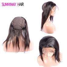 Unprocessed 8A Grade Virgin Hair 360 Lace Frontal Straight Brazilian Virgin Hair 13X4 Full Lace Frontal With Stretch Cap